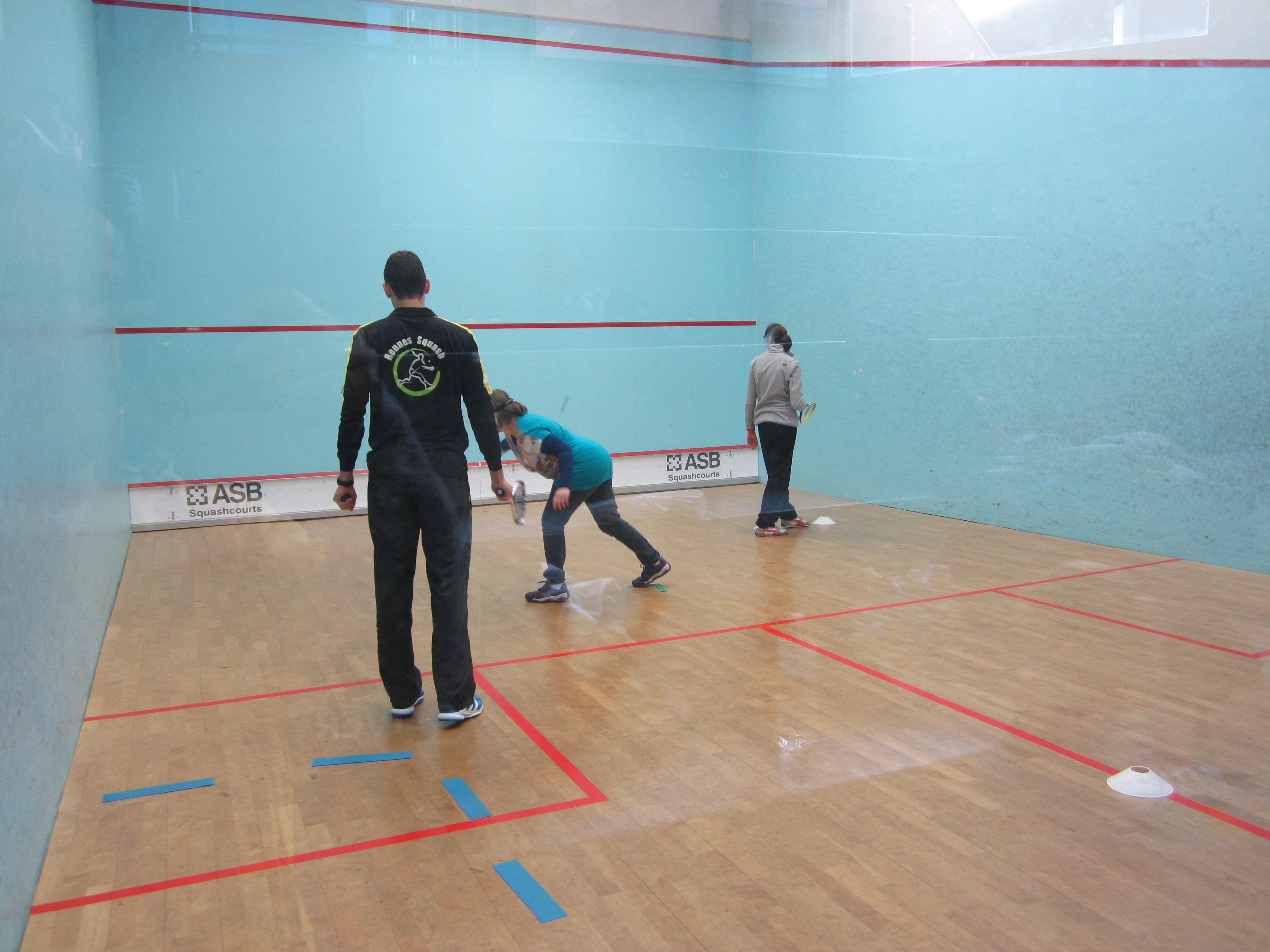Journée raquettes Comité Départemental Sport Adapté 35 Rennes Squash Fondation Orange
