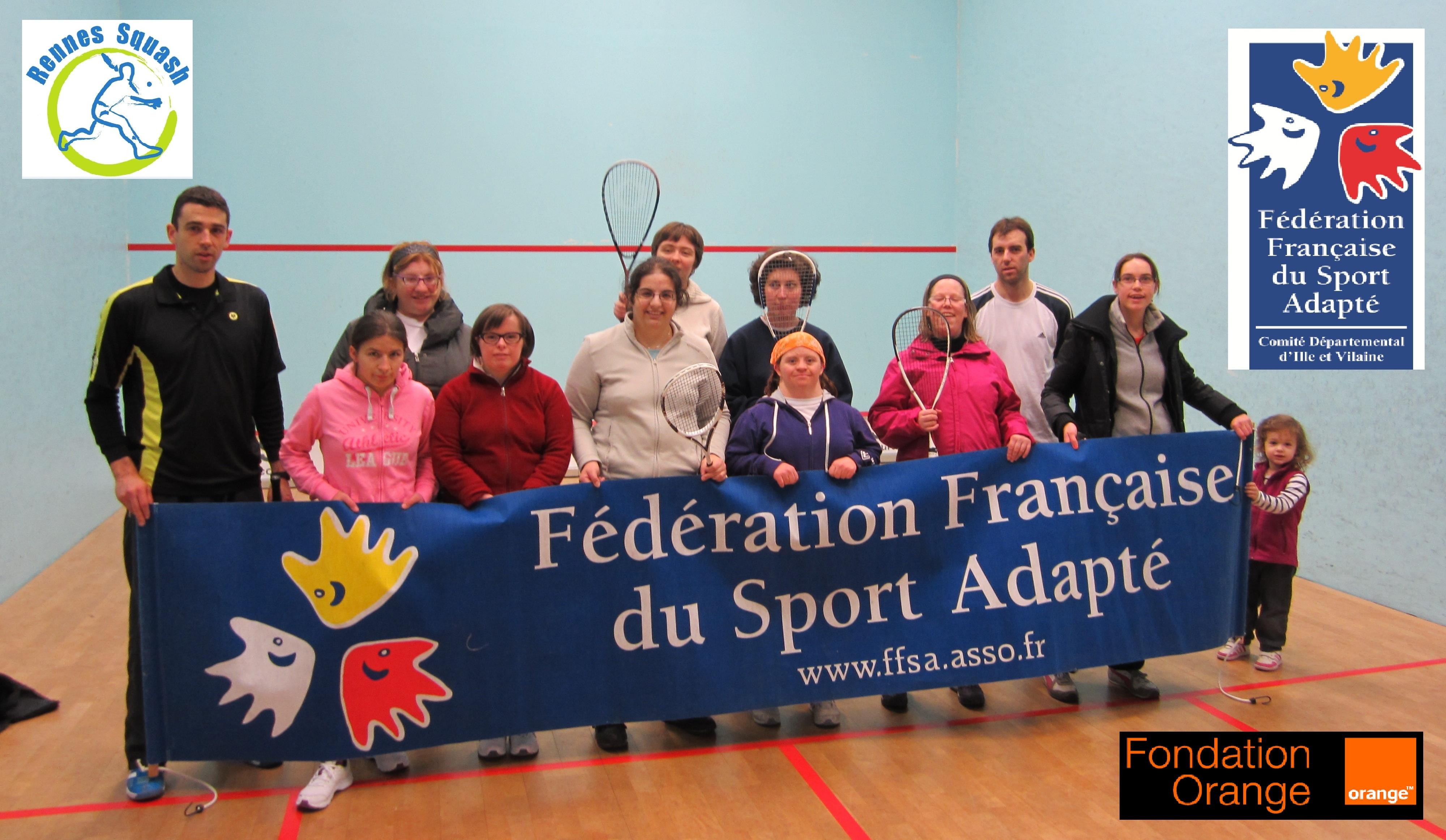 Journée raquettes Sport Adapté 35 comité départemental CDSA35 Rennes squash